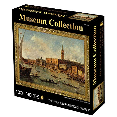 Powza Classic Oil Paintings 1000 Pieces Jigsaw Puzzle - Busy Ports, Artwork Art Large Size Jigsaw Puzzle Toy for Educational Gift Home Decor(27.6 in x 19.7 in)