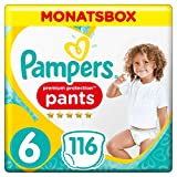 Pampers Premium Protection Pants, Gr. 6, 15+ kg, Monatsbox, 1er Pack (1 x 116 Stück)
