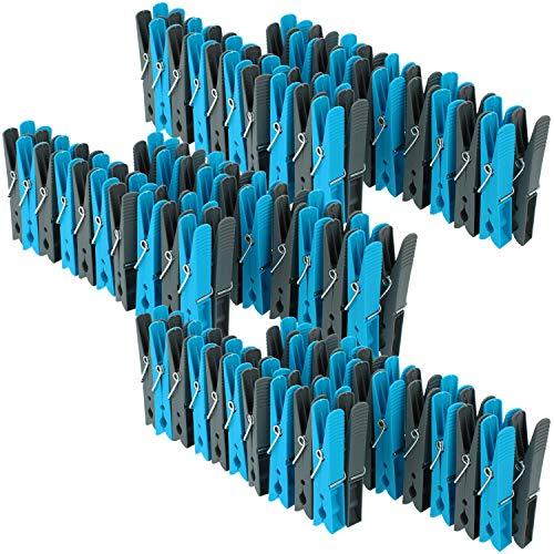 com-four® 120 Pinces à Linge dans Un Paquet d'épargne dans diverses Couleurs Tendance (120 pièces - Supports)