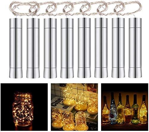 Herefun Cadena Led Luces para Botellas de Vino, 8 x 20 LEDs Guirnaldas Luminosas 2M Lámparas...
