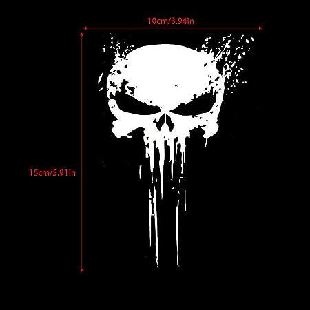 Tickas Car Decals Aufkleber Punisher Skull Blood Vinyl Motorräder Dekoration Baumarkt