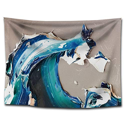 WERT Paisaje Pintura al óleo Tapiz Colgante de Pared decoración del hogar Orilla del río fotografía de Fondo Tela Manta de Playa sofá Cubierta A9 150x130cm