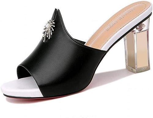 LTN Ltd - sandals Sandalias Gruesas Y de Tacón Alto, schwarz, 39