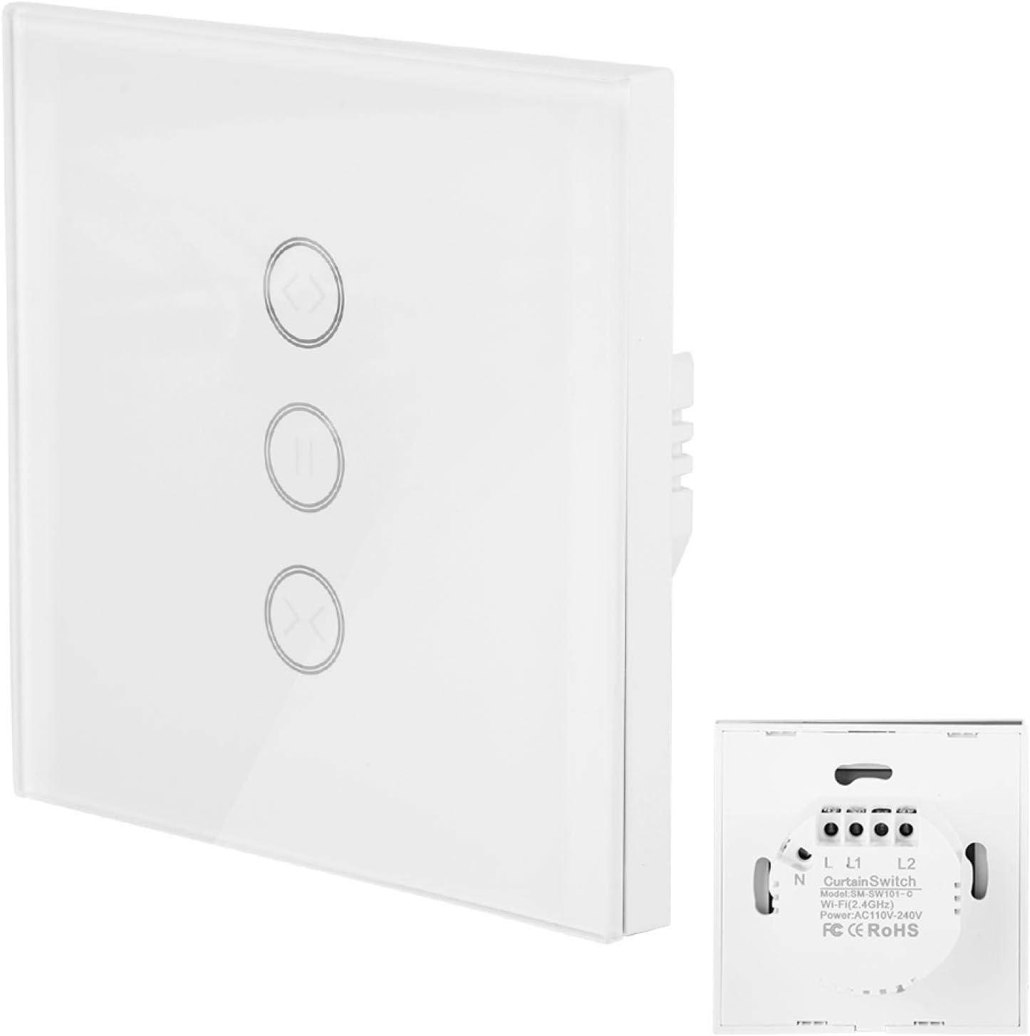 Control remoto Control remoto Interruptor de cortina Interruptor de WiFi Interruptor de cortina Panel de vidrio táctil de alta sensibilidad Ahorre problemas, adecuado para dormitorios