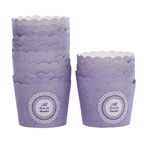 Coupes de cuisson Petite Taille Maffin Cup meilleure qualité Cupcake Paper 50 PCS - Violet