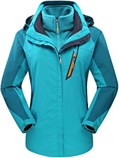 DongDong✫Women's Outdoor Jacket,Thick Elastic Waterproof Breathable Hoodie Nylon Plus Size Warm Rain Coat