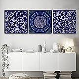 Arabische Wandkunst Koran Poster Blau Lila Einzigartige