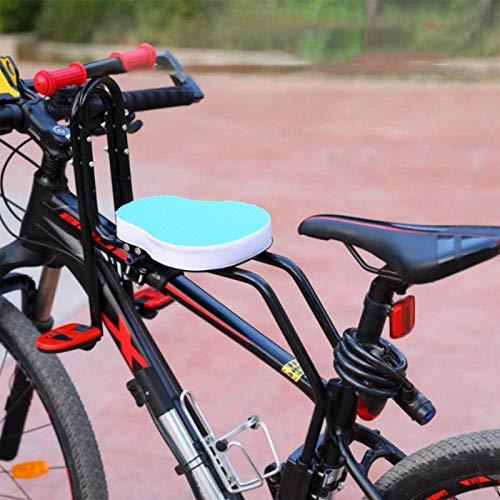 Seggiolino Bicicletta Anteriore per Bambino | Pieghevole Sedile Seggiolino Anteriore con Braccioli e Pedale | per Bambini 2-6 Anni - Max 50KG (Blue)