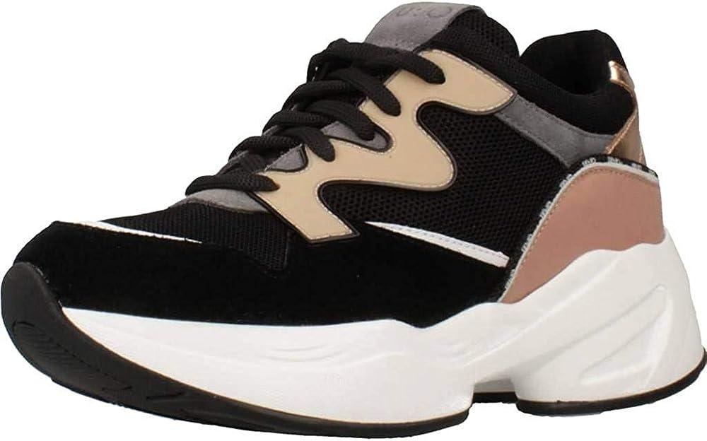 Liu jo, sneakers,scarpe sportive per donna ,in pelle e tessuto tecnico 39289-36