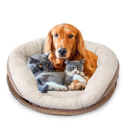 Serenelife Electric Heated Pet Warmer Bed | Low Power Warming Heating Soft Cushion Sleeping Blanket Dog Cat Bed Warmer Pad W/Dual Thermostat, for Canine Hound Dogs Puppy Kitty Cats Indoor Animal Keep