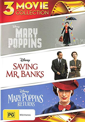 Mary Poppins / Mary Poppins Returns / Saving Mr Banks DVD | 3 Movie Collection | 3 Discs | NON-USA Format | Region 4 Import - Australia