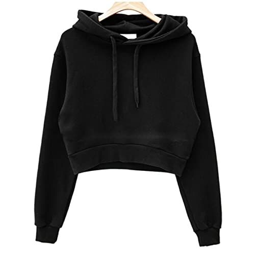 40d36aadd5d0a Only Faith Women Long Sleeve Sweatshirt Hoodie Pullover Crop Top Jacket