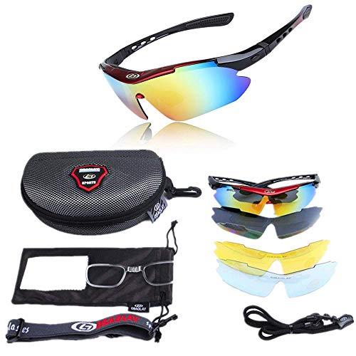 CCAN LYXX Gafas de Sol para Hombre Gafas de Sol Deportivas para Ciclismo Gafas de Sol polarizadas Que cambian de Color Protección UV para Ciclismo Escalada Conducción Deportiva con Bolsa