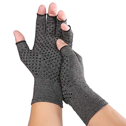 Fingerless Compression Arthritis Gloves for Women & Men, Women Men Compression Gloves for Arthritis for Relieve Arthritis Symptoms, Raynauds Disease & Carpal (Small)