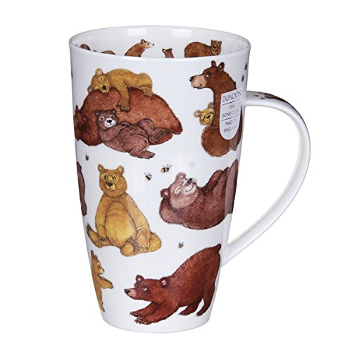 Gorgeous 'Grizzlies' Grizzly Brown Bear Dunoon Fine Bone China Large Mug Henley Style by Dunoon