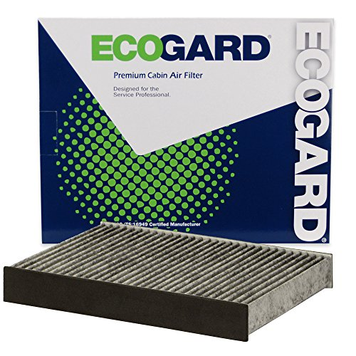 ECOGARD XC10619C Premium Cabin Air Filter with Activated Carbon Odor Eliminator Fits Fiat 500X 2017-2019, 500L 2014-2019 | Jeep Renegade 2015-2019, Compass 2019