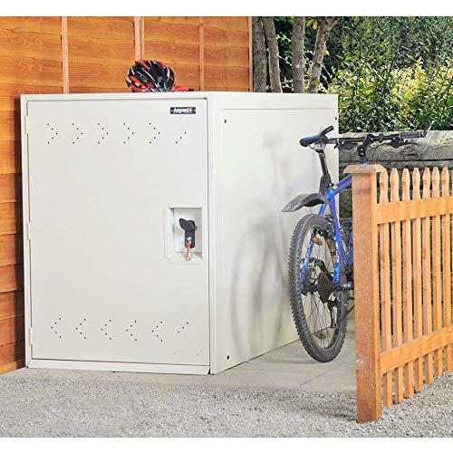 Asgard Metal Outdoor Double Bike Storage Unit Brown