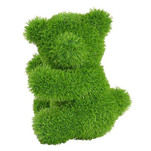 Kögler 53255 - AniPlants Bär seitlich, Deko-Figur aus Kunstrasen, ca. 26 x 27 x 37 cm groß, wetterfest und formstabil, mit Ankern zur Befestigung, ideal als Deko für Garten und Haus
