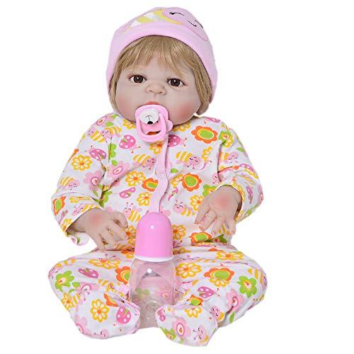 Silicone Newborn Doll 58,4cm Lifelike Reborn Baby Dolls Full vinyl Girl impermeabile stimolazione bambola giocattolo ciuccio di magnete manichino
