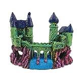 1 pieza de acuario castillo adornos de resina castillo para peces pequeños, molly fry, guppies, camarones y cíclidos