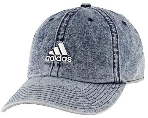 adidas Men's Estate Relaxed Adjustable Cap, Denim Wash/White, ONE SIZE