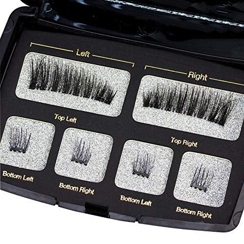 XUNUO Magaste 4 handmade 3D / 6D magnetales natural comfortable false eyelashes, gift boxes (Color : D)