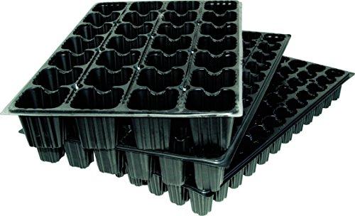 Flower 90063 1 unité plaques de semis 28 cavités Noir