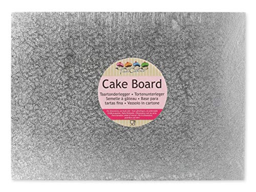 FunCakes Cake Board, Silber, 40 x 30cm, Papier