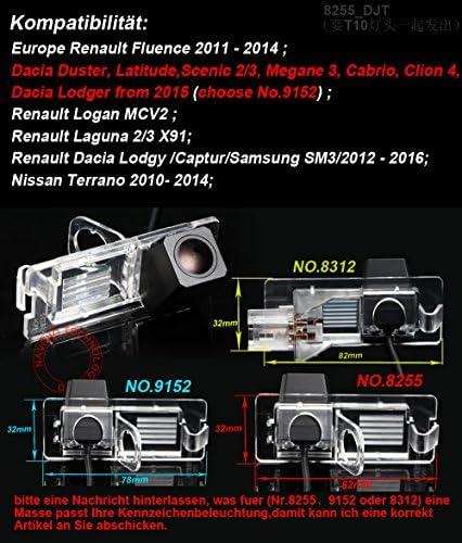 Dynavsal Auto Rückfahrkamera Mit Distanzlinien In Kennzeichenleuchte Für Renault Fluence Duster Latitude Scenic2 3 Megane 2 Megane 3 Cabrio Clio 3 Terrano Lutecia Espace 4 Auto