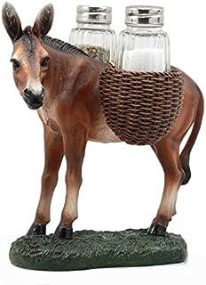 Ebros Gift Hardworking Country Farm Mule Carrying Saddlebags Figurine Salt Pepper Shakers Holder Decor Of Working Animals Like Horses Donkeys Agricultural Livestock
