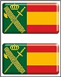 Artimagen Pegatina rectángulos Bandera con Logo Guardia Civil 2 uds. Resina 48x26 mm/ud.