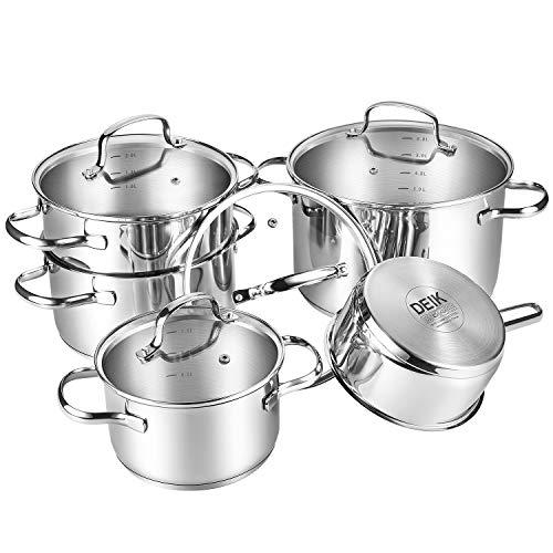 Deik Juego de ollas - Batería de Cocina 5 piezas