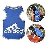 TVMALL AdiDog Mascota Perro Camiseta 100% algodón Camisas de Perro Grande Malla de Verano Chaleco Transpirable Perro Labrador Retriever Retriever Moda Sudadera tamaño Grande Ropa para Perros 3XL-9XL