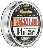 サンライン(SUNLINE) フロロカーボンライン シューター スナイパー 300m 14lb ナチュラルクリア