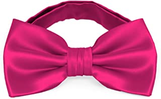 TieMart Bright Fuchsia Clara Paisley Self-Tie Bow Tie