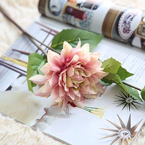 yueyue947 Dahlia Artificial Flower/Artificial Flower Simulación Planta/Decoración del Hogar...