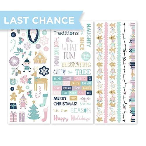 Creative Memoires Weihnachts-Zuckerpflaumen-Aufkleber für Scrapbooking und Kartenherstellung, 3 Stück