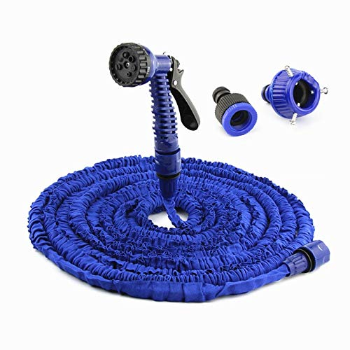 XiaoOu Water Hose Pipe 7.5FT-100FT Garden Hose Expandable Magic Flexible Water Hose Hose Plastic Hoses Pipe with Spray Gun to Watering,Blue,75ft