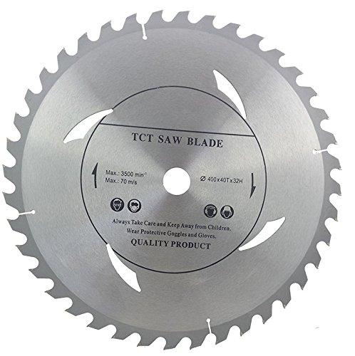 Hoja de sierra circular de alta calidad (sierra cortada) 400 mm x 32 mm x 40 T para discos de corte de madera circular
