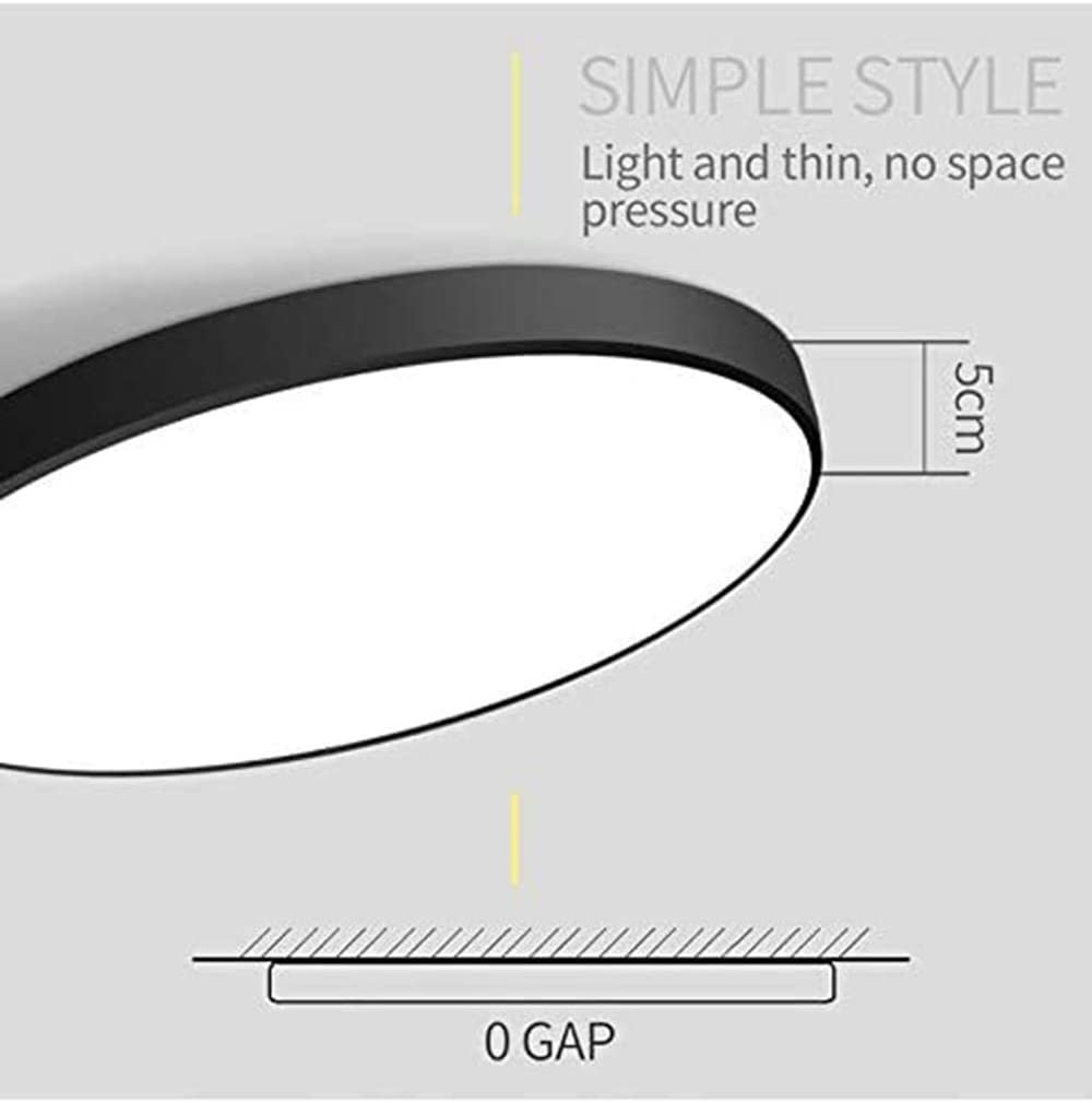 Luminaire Plafonnier led chambre,lampe plafond moderne ultra fin rond encastrable avec t/él/écommande /à intensit/é variable pour salle de bain salon bureau maison de campagne cuisine blanc 40 cm
