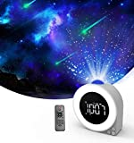 Star Projector Night Light Alarm Clock,Ocean Ambient Sound White Noise,Dynamic Galaxy Lighting ,Bluetooth Speaker with Remote Control,Adult Kids Gifts,Bedroom Game Room Party Atmosphere lamp