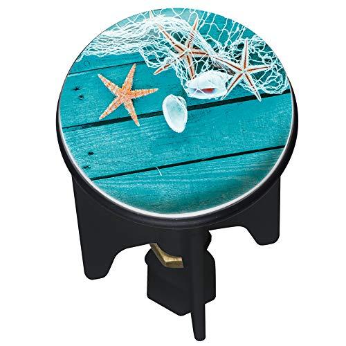 Wenko 22867100 Waschbeckenstöpsel Pluggy Summer Feeling - Abfluss-Stopfen, für alle handelsüblichen Abflüsse, Kunststoff, 3,9 x 6,5 x 3,9 cm, mehrfarbig