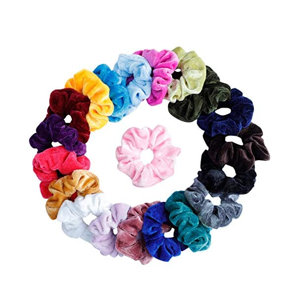 Beauty Shopping 30 Pcs Velvet Hair Scrunchies 6 Pcs Large Hair Claw Clips Nonslip Big Banana Hair