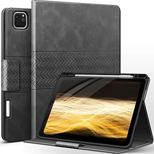 AUAUA Hülle für iPad Pro 11 2021/2020/2018 mit Apple Stifthalter PU Leder Auto Sleep/Wake Funktion Smart Cover für iPad Pro 11 3. 2. 1. Generation (Grau)