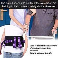 耐久性のある高齢者介護ベルトウエスト牽引ベルト、家庭での使用のための手足の弱点を支援する患者が女性と男性のためにシフトするのを助ける(purple)