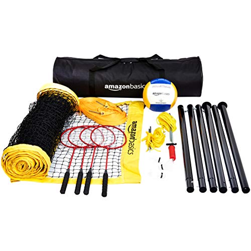 Amazon Basics – Kit combinado para voleibol y bádminton