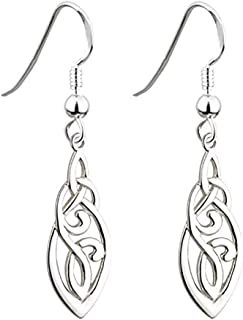 Trinity Knot Earrings Celtic Knot Sterling Silver Made in Ireland