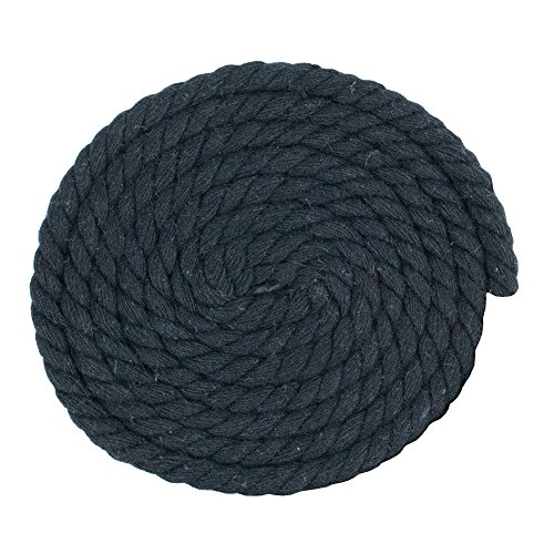 100 Ft Options West Coast Paracord Twisted Cotton Super Soft Triple-Strand 1//4 Inch Rope from by The Foot in 10 Ft 25 Ft 100/% Cotton Rope 50 Ft
