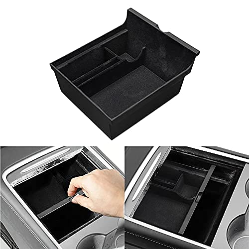 Tesla Model 3/ consola central organizador, reposabrazos flotado, caja de almacenamiento oculta con puerta