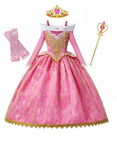 DOCHEER Little Girls Princess Costume Gorgeous Fancy Queen Dress Up Cosplay Party Dresses